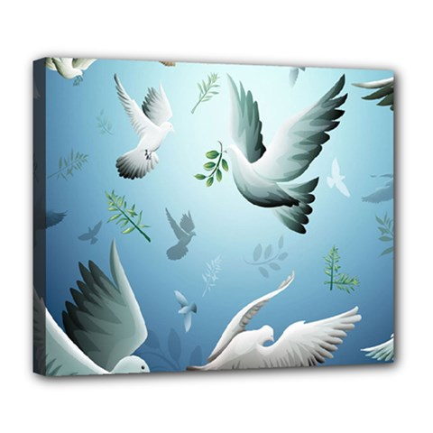 Animated Nature Wallpaper Animated Bird Deluxe Canvas 24  X 20   by AnjaniArt