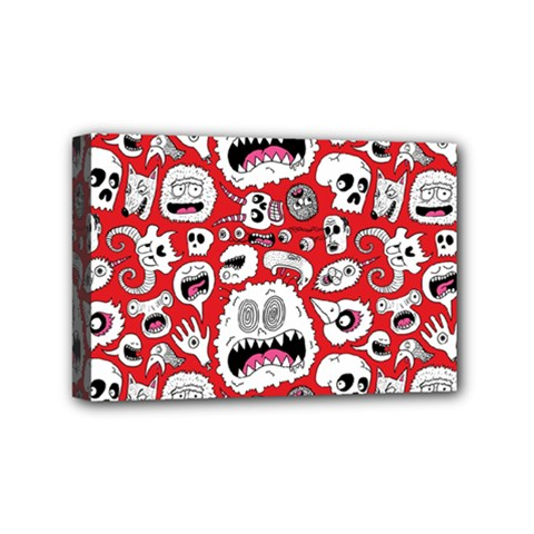 Another Monster Pattern Mini Canvas 6  X 4  by AnjaniArt