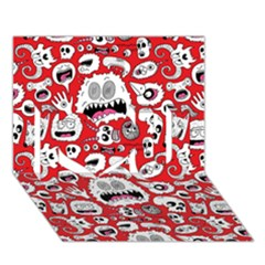 Another Monster Pattern I Love You 3d Greeting Card (7x5) by AnjaniArt