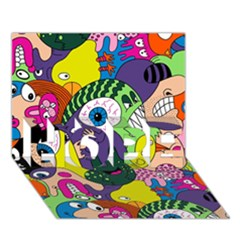 Another Weird Pattern Hope 3d Greeting Card (7x5) by AnjaniArt
