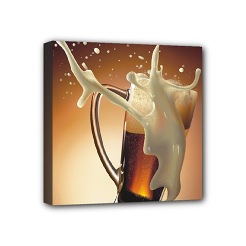 Beer Wallpaper Mini Canvas 4  X 4  by AnjaniArt