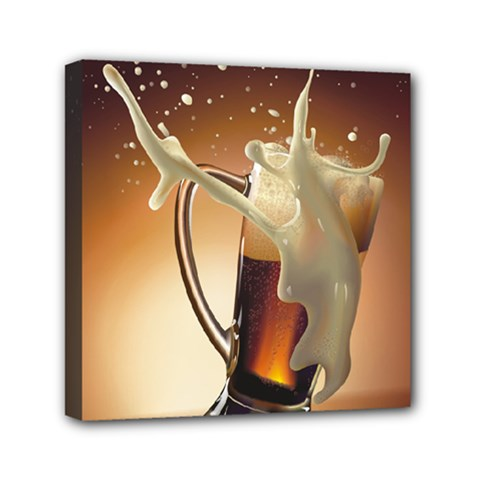 Beer Wallpaper Mini Canvas 6  X 6  by AnjaniArt
