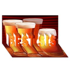 Beer Wallpaper Wide Best Sis 3d Greeting Card (8x4) by AnjaniArt