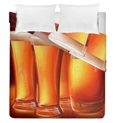 Beer Wallpaper Wide Duvet Cover Double Side (queen Size)
