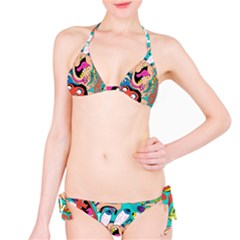 Cartoons Funny Face Patten Bikini Set by AnjaniArt