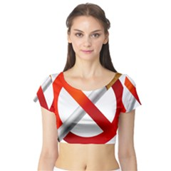 Cigarette Short Sleeve Crop Top (tight Fit) by AnjaniArt
