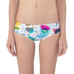 Colorful Cartoon Funny People Classic Bikini Bottoms by AnjaniArt