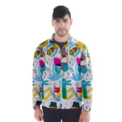 Colorful Cartoon Funny People Wind Breaker (men) by AnjaniArt