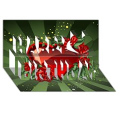 Cool Boy Wallpaper Happy Birthday 3d Greeting Card (8x4) by AnjaniArt