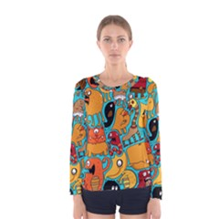 Creature Cluster Women s Long Sleeve Tee by AnjaniArt
