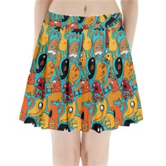 Creature Cluster Pleated Mini Skirt