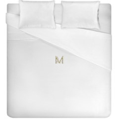 M Monogram Initial Letter M Golden Chic Stylish Typography Gold Duvet Cover (king Size) by yoursparklingshop