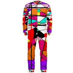 Abstract Waves Onepiece Jumpsuit (men)  by Valentinaart