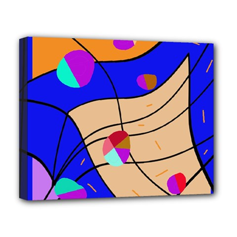 Decorative Abstract Art Deluxe Canvas 20  X 16   by Valentinaart