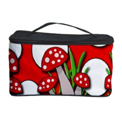 Mushrooms Pattern Cosmetic Storage Case by Valentinaart