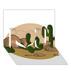 Desert 2 I Love You 3d Greeting Card (7x5) by Valentinaart