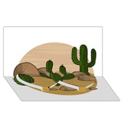 Desert 2 Twin Heart Bottom 3d Greeting Card (8x4) by Valentinaart