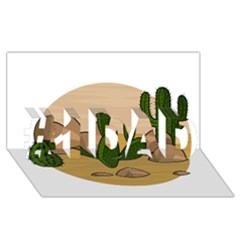 Desert 2 #1 Dad 3d Greeting Card (8x4)