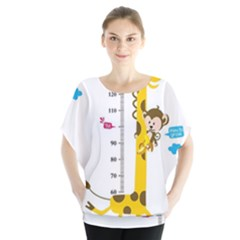 Cute Giraffe Monkey Blouse