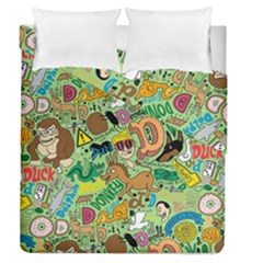 D Pattern Duvet Cover Double Side (queen Size) by AnjaniArt