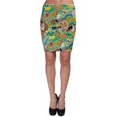 D Pattern Bodycon Skirt by AnjaniArt