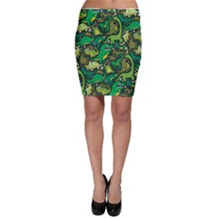 Dino Pattern Cartoons Bodycon Skirt by AnjaniArt