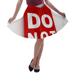 Do Not Disturb A Line Skater Skirt
