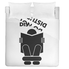 Do Not Disturb Sign Board Duvet Cover Double Side (queen Size) by AnjaniArt