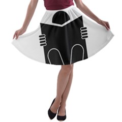 Do Not Disturb Sign Board A Line Skater Skirt