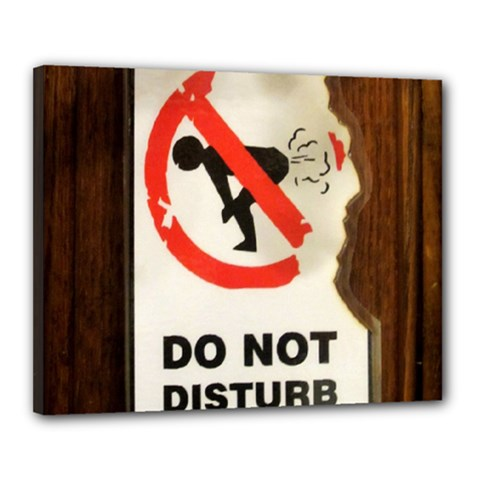 Do Not Disturb Sign Please Go Away I Don T Care Canvas 20  X 16