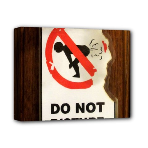 Do Not Disturb Sign Please Go Away I Don T Care Deluxe Canvas 14  X 11