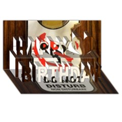 Do Not Disturb Sign Please Go Away I Don T Care Happy Birthday 3d Greeting Card (8x4)