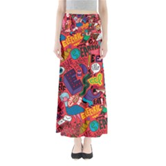 E Pattern Cartoons Maxi Skirts