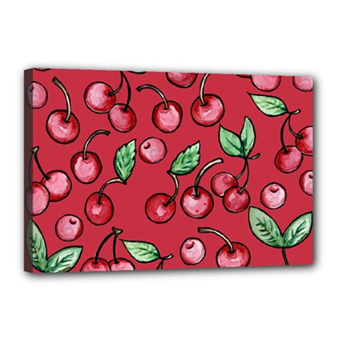 Cherry Cherries For Spring Canvas 18  X 12