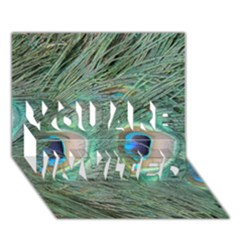 Peacock Feathers Macro You Are Invited 3d Greeting Card (7x5) by GiftsbyNature
