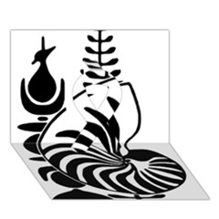 Emblem Of New Caledonia Ribbon 3d Greeting Card (7x5) by abbeyz71