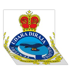 Crest Of Royal Malaysian Air Force Circle Bottom 3d Greeting Card (7x5) by abbeyz71