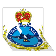 Crest Of Royal Malaysian Air Force Ribbon 3d Greeting Card (7x5) by abbeyz71