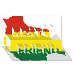 Flag Map Of Bolivia Best Friends 3d Greeting Card (8x4) by abbeyz71