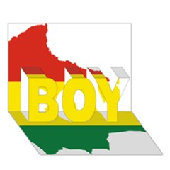 Flag Map Of Bolivia Boy 3d Greeting Card (7x5)