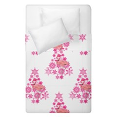 Pink Flamingo Santa Snowflake Tree  Duvet Cover Double Side (single Size) by CrypticFragmentsColors