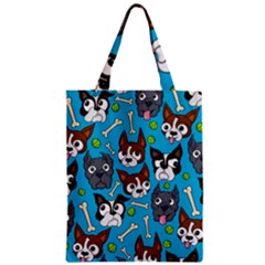Face Dog And Bond Classic Tote Bag by AnjaniArt