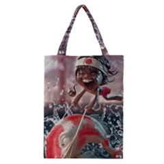 Funny Cartoon Fish Classic Tote Bag by AnjaniArt