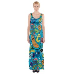 Gettinloose Maxi Thigh Split Dress by AnjaniArt