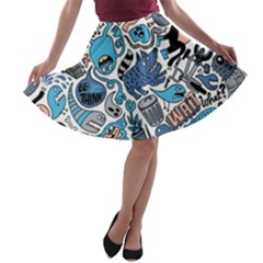Gross Patten Now A Line Skater Skirt by AnjaniArt