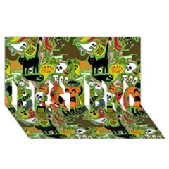 Halloween Pattern Best Bro 3d Greeting Card (8x4) by AnjaniArt