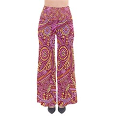 Pink Yellow Hippie Flower Pattern Zz0106 Pants by Zandiepants