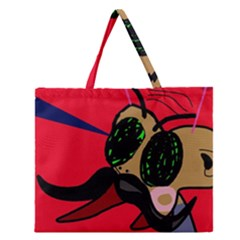 Mr Fly Zipper Large Tote Bag by Valentinaart
