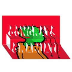 Looking Up Congrats Graduate 3d Greeting Card (8x4) by Valentinaart