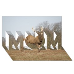 Red Deer Stag On A Hill Mom 3d Greeting Card (8x4) by GiftsbyNature